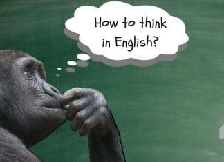 como pensar em inglês?