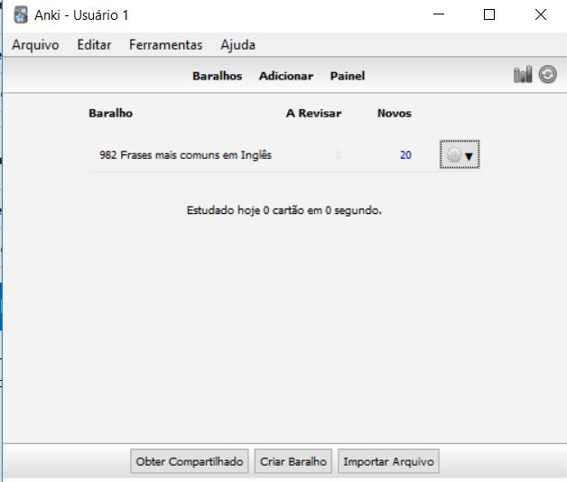 configurar anki - tela usuario