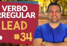 verbo irregular lead