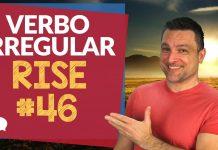verbo irregular rise