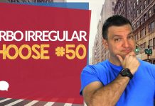 verbo irregular choose