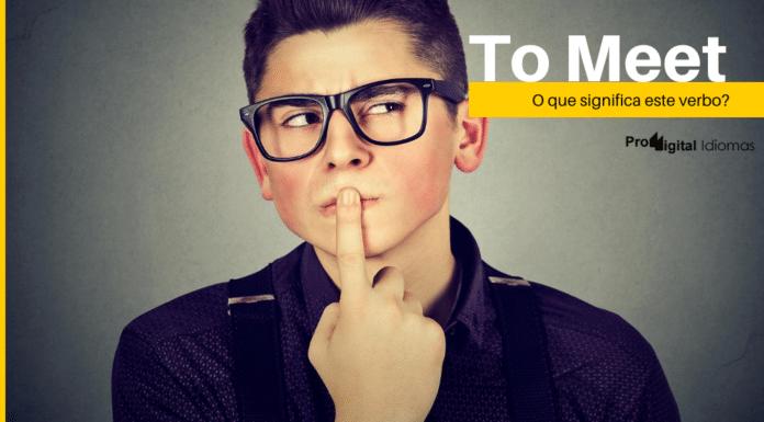 To Meet - O que significa este verbo?